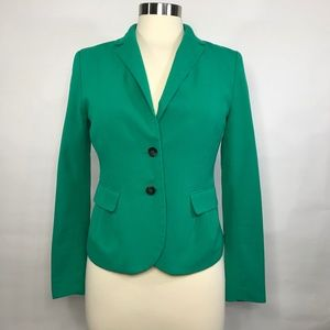 H&M Green Two Button Long Sleeve Blazer US 8
